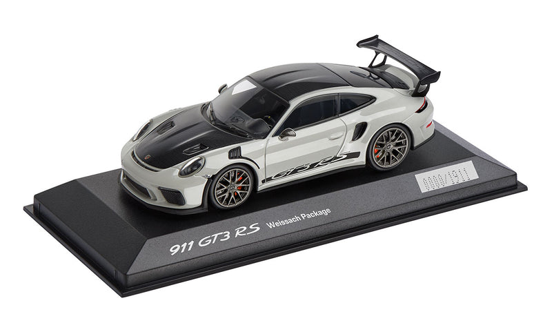 Porsche 911 (991.2) GT3 RS with Weissach Package 1:43 Model Car - Chalk (LIMITED)