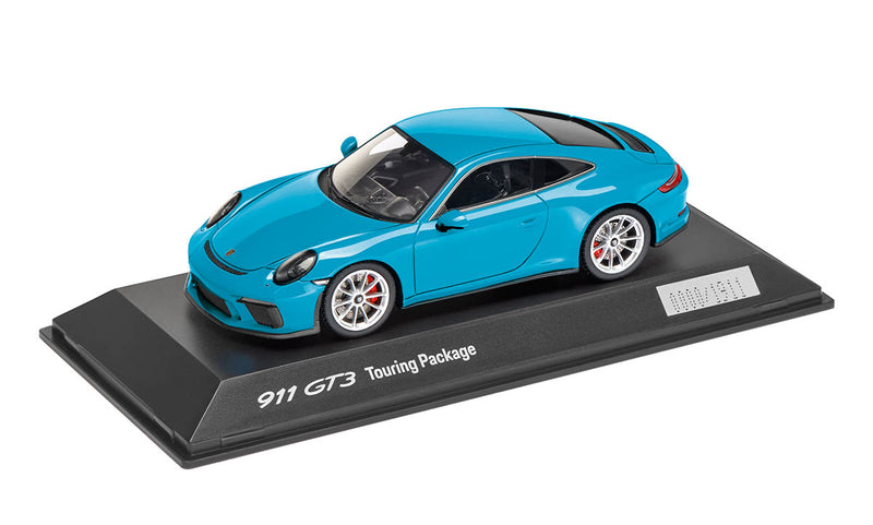 Porsche 911 (991.2) GT3 Touring Package 1:43 Model Car - Miami Blue (LIMITED)