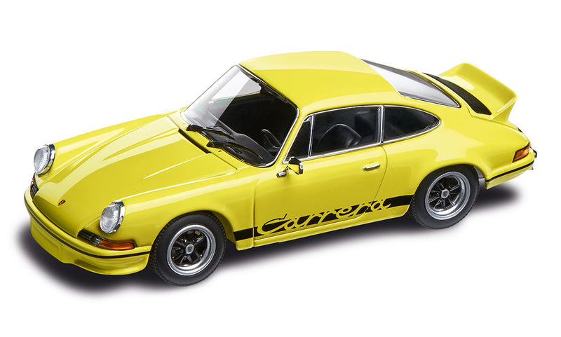 Porsche 911 RS 2.7 1:43 Model Car - Light Yellow