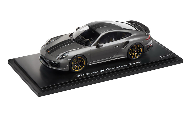 Porsche 911 Turbo S Exclusive Series 1:18 Model Car - Agate Grey (Limited Edition)