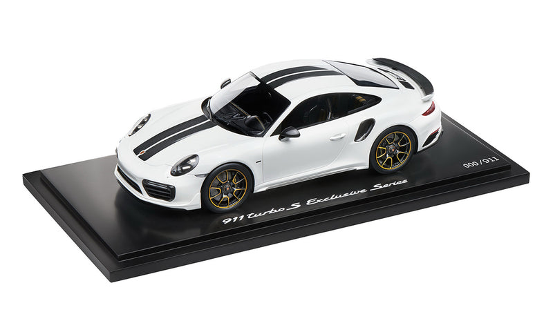 Porsche 911 Turbo S Exclusive Series 1:18 Model Car - White (Limited Edition)