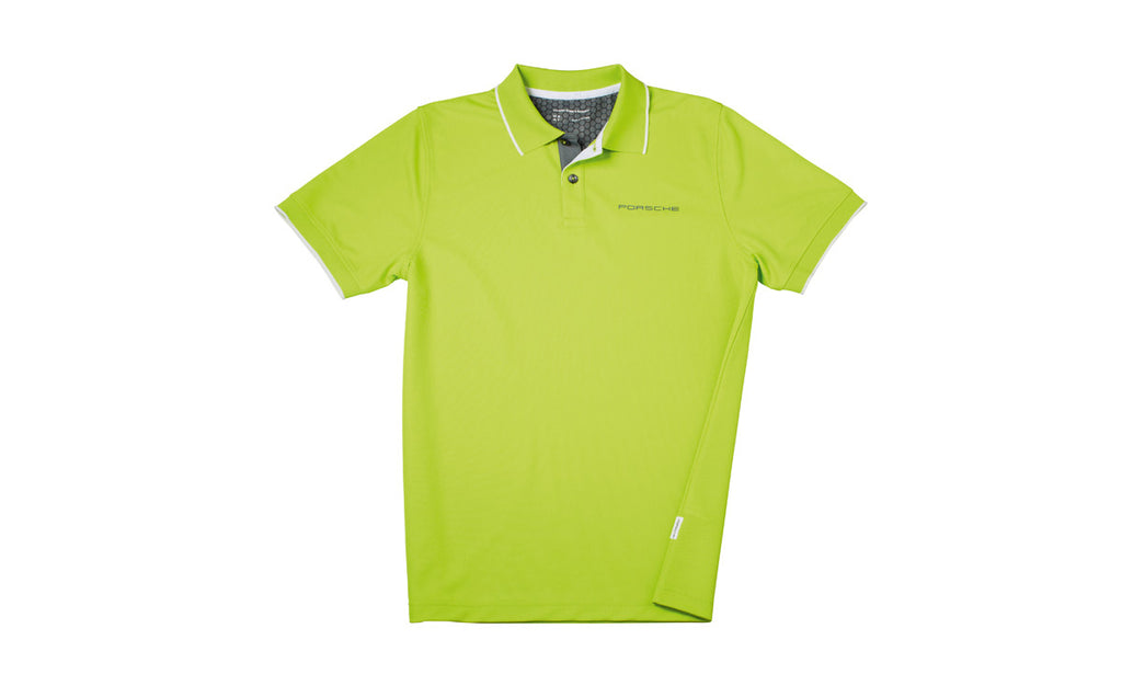 Porsche Driver's Selection New Men's Golf Polo Shirt - Acid Green