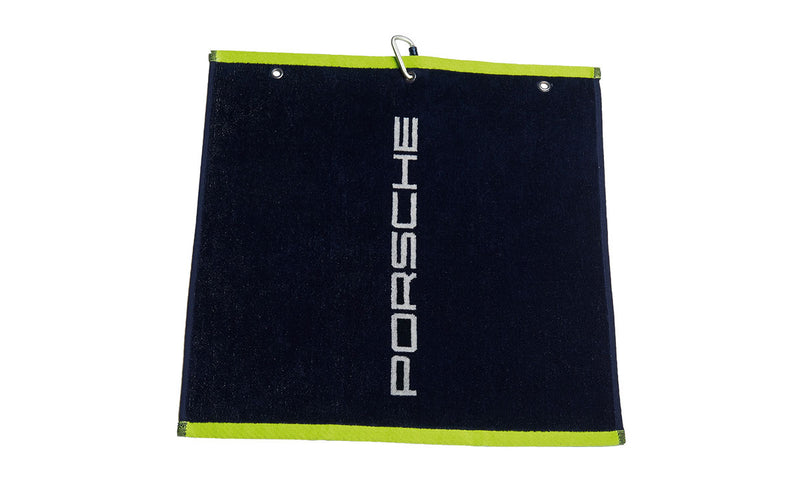 Porsche Driver's Selection Golf Towel, dark blue/yellow - Sport Collection