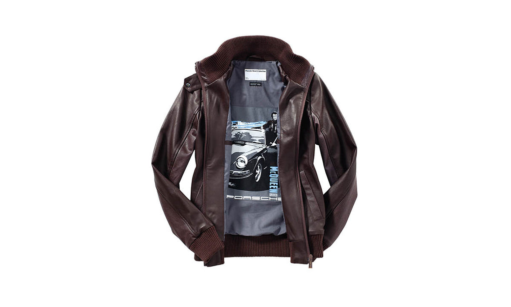 Porsche Driver's Selection Women's Leather Jacket - Steve McQueen Collection
