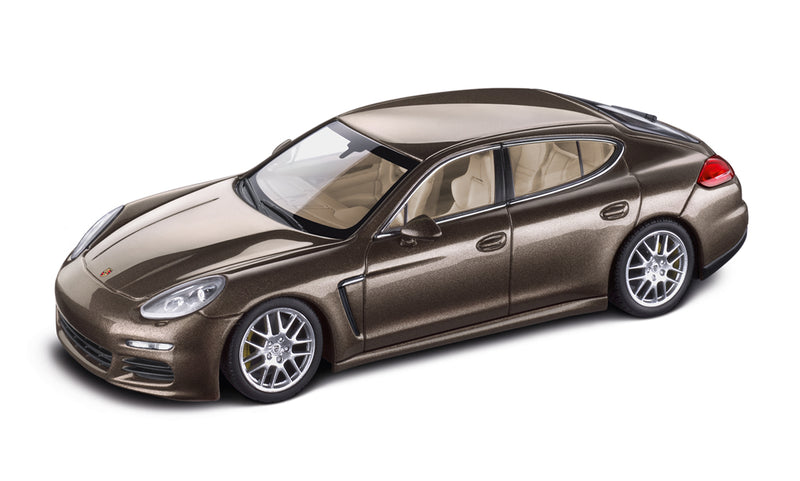 Porsche Panamera S 1:43 Model Car - Chestnut Brown