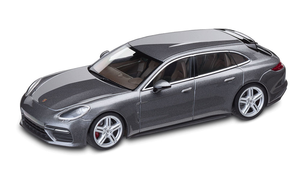 Porsche Panamera Sport Turismo Turbo 1:43 Scale Model Car - Grey