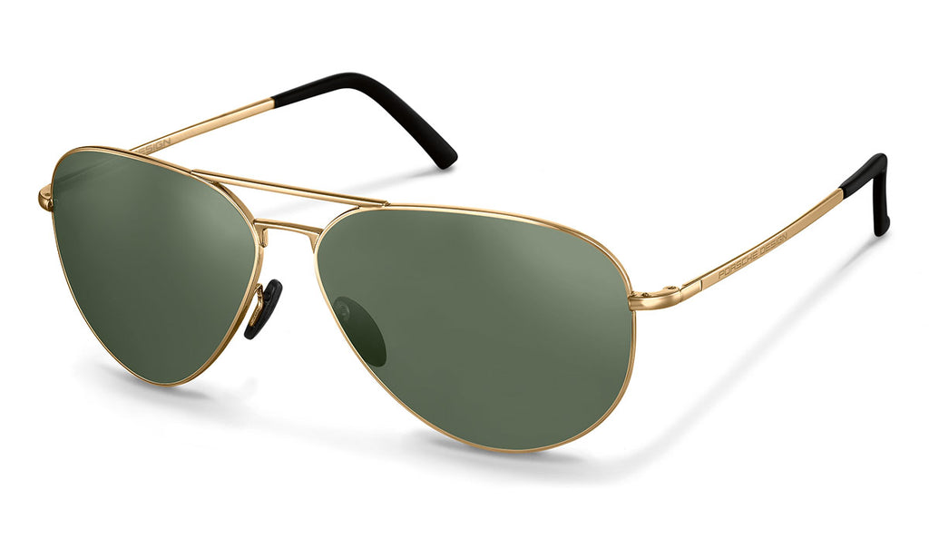 PORSCHE DESIGN Men's Aviators Sunglasses P'8508, Gold
