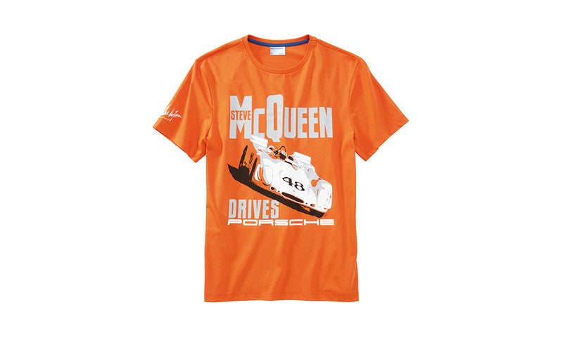 "Porsche Driver's Selection Men's ""Car"" T-Shirt - Steve McQueen Collection"