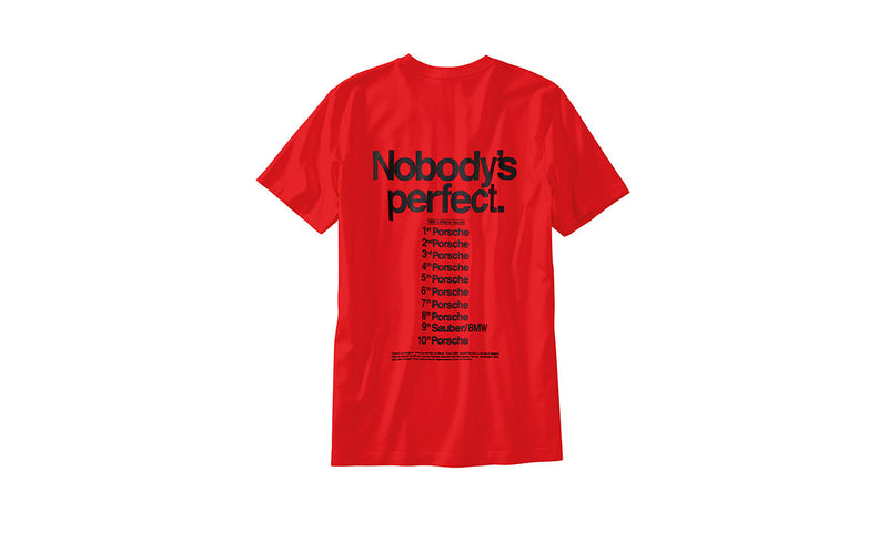 "Porsche Driver's Selection Men's ""Nobody's Perfect"" T-shirt - Racing Collection"