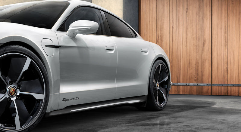 Porsche Tequipment Taycan 4S Model Designation On Doors