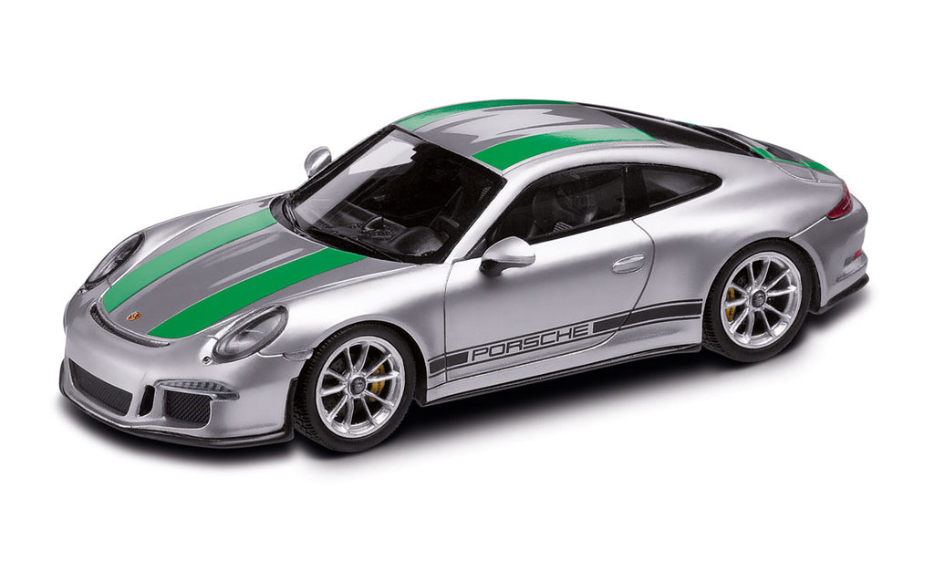 Porsche 911R (991) 911 R 1:18 Model Car - Silver / Green (Limited Edition)