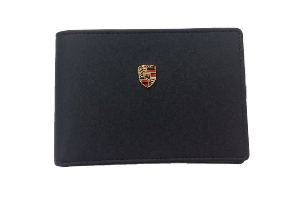 Porsche Driver's Selection Men's Leather Bi-Fold Wallet w/ Porsche Crest