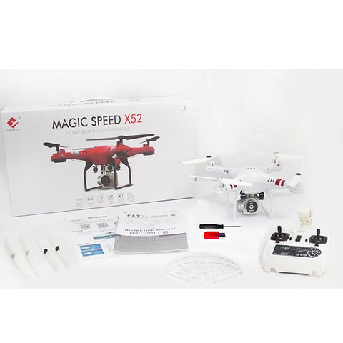 Four Wings Photography Model Aircraft 2.4G Altitude Hold HD Camera Quadcopter RC Drone 2MP WiFi FPV Live Helicopter Hover UAV