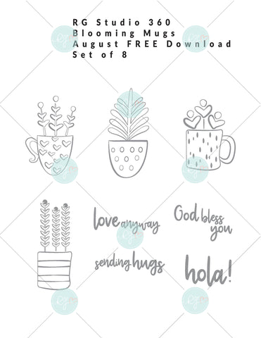 August Download - Blooming Mugs