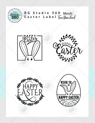 Easter Label - March's Free Digital Download