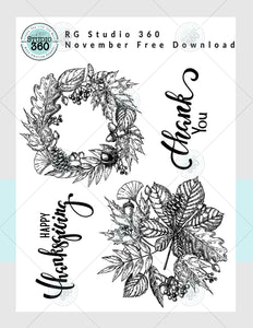 Fall Wreath - November FREE Download
