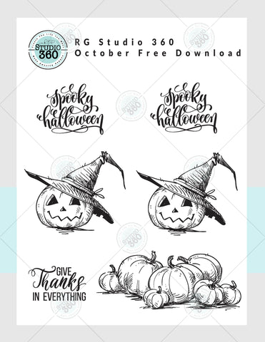 October Free Download - Halloween Inspired