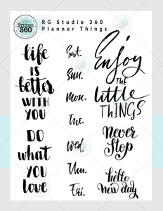 Planner Things - Exclusive Digital Download