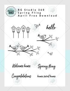 Spring Fling - April's Free Digital Download
