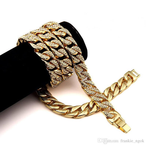 Heavy 24K Solid Gold Plated MIAMI CUBAN LINK - TMBWear