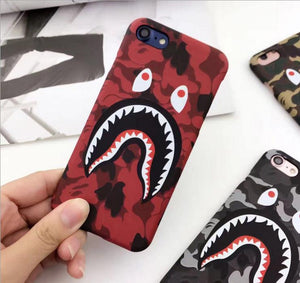 NEW Hot Top Quality Cool Fashion Shark Case For iPhone8 8plus 7 6 6s Plus Shark Army Phone Case Cover For iPhoneX 6S 5 5S SE Matte - TMBWear