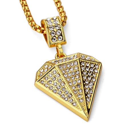 Fashion Stainless Steel Hiphop Gold Color Geometry Necklaces & Pendants UniSex - TMBWear