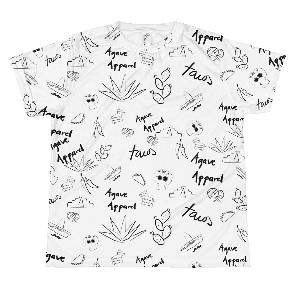 Agave Apparel Graffiti Doodle Kids T-Shirt front view