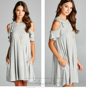 Be My Heart Grey T-Shirt Dress