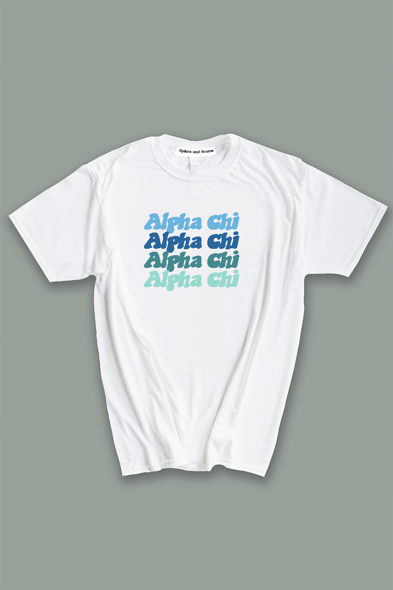 Alpha Chi Omega Blue Palette tee - Spikes and Seams Greek