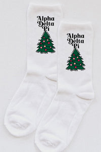 Christmas Tree Sorority socks - Spikes and Seams Greek