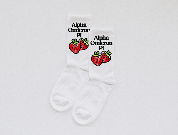 Strawberry Sorority socks - Spikes and Seams Greek