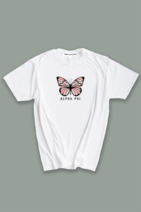 Alpha Phi Butterfly tee - Spikes and Seams Greek
