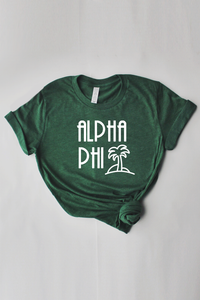 Alpha Phi Palm Tree tee - Spikes and Seams Greek