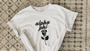 White Rose Tee - available for all sororities!