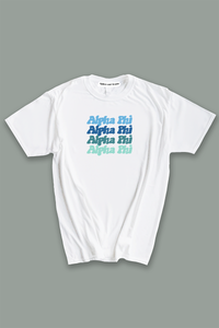 Alpha Phi Blue Palette tee - Spikes and Seams Greek