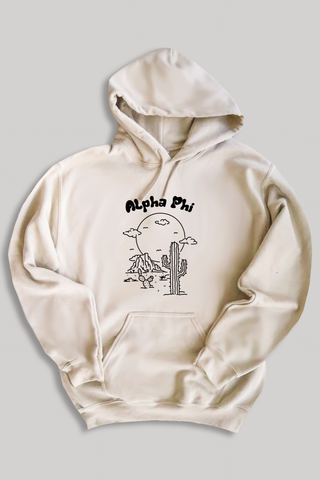 Alpha Phi Desert hoodie - sand - Spikes and Seams Greek