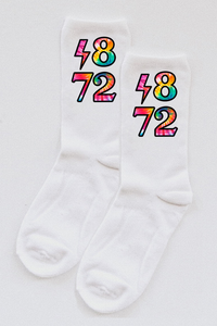 Alpha Phi Tie-Dye Year socks - Spikes and Seams Greek