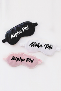 Alpha Phi sleep mask - Spikes and Seams Greek