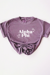 Alpha Phi Purple tee - Spikes and Seams Greek