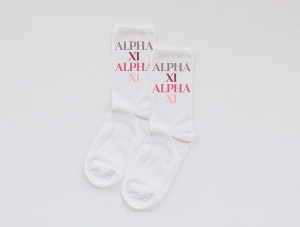 Pink Palette Sorority socks - Spikes and Seams Greek