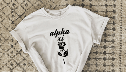 Alpha Xi Rose Tee