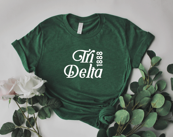 Green Est. Tee - available for all sororities! - Spikes and Seams Greek