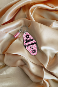 Dried flowers sorority keychain - Spikes and Seams Greek