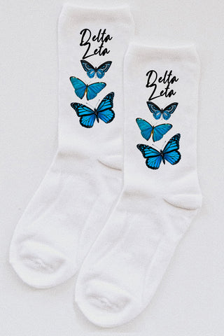 Butterfly Socks - Spikes and Seams Greek