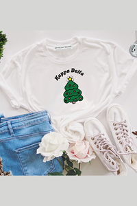Christmas Tree Sorority tee - Spikes and Seams Greek