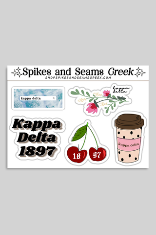 Sorority sticker set #3 - Spikes and Seams Greek