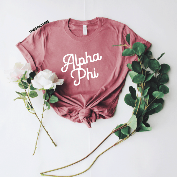 Mauve Tee - available for all sororities! - Spikes and Seams Greek