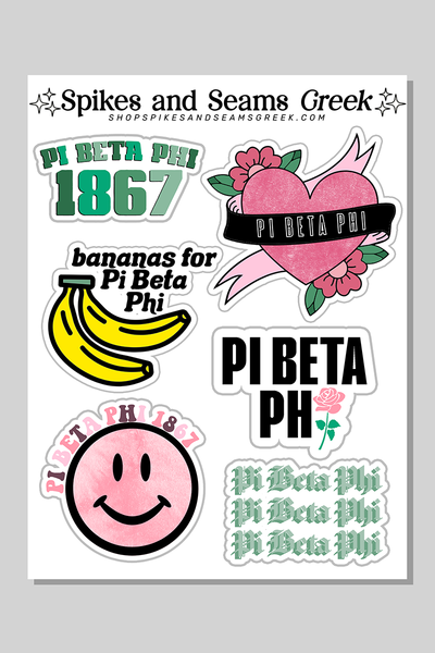 Sorority sticker set #4 - Spikes and Seams Greek