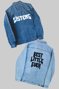 Family Rocker denim jacket - choose your text! - Spikes and Seams Greek