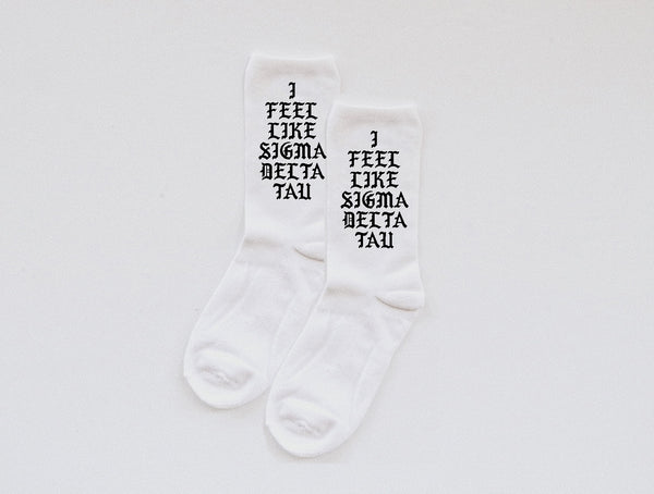 Sorority Socks - custom text! - Spikes and Seams Greek